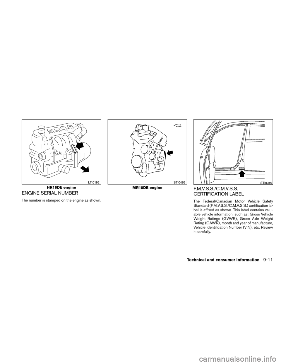 NISSAN VERSA HATCHBACK 2011 1.G Owners Manual, Page 330
