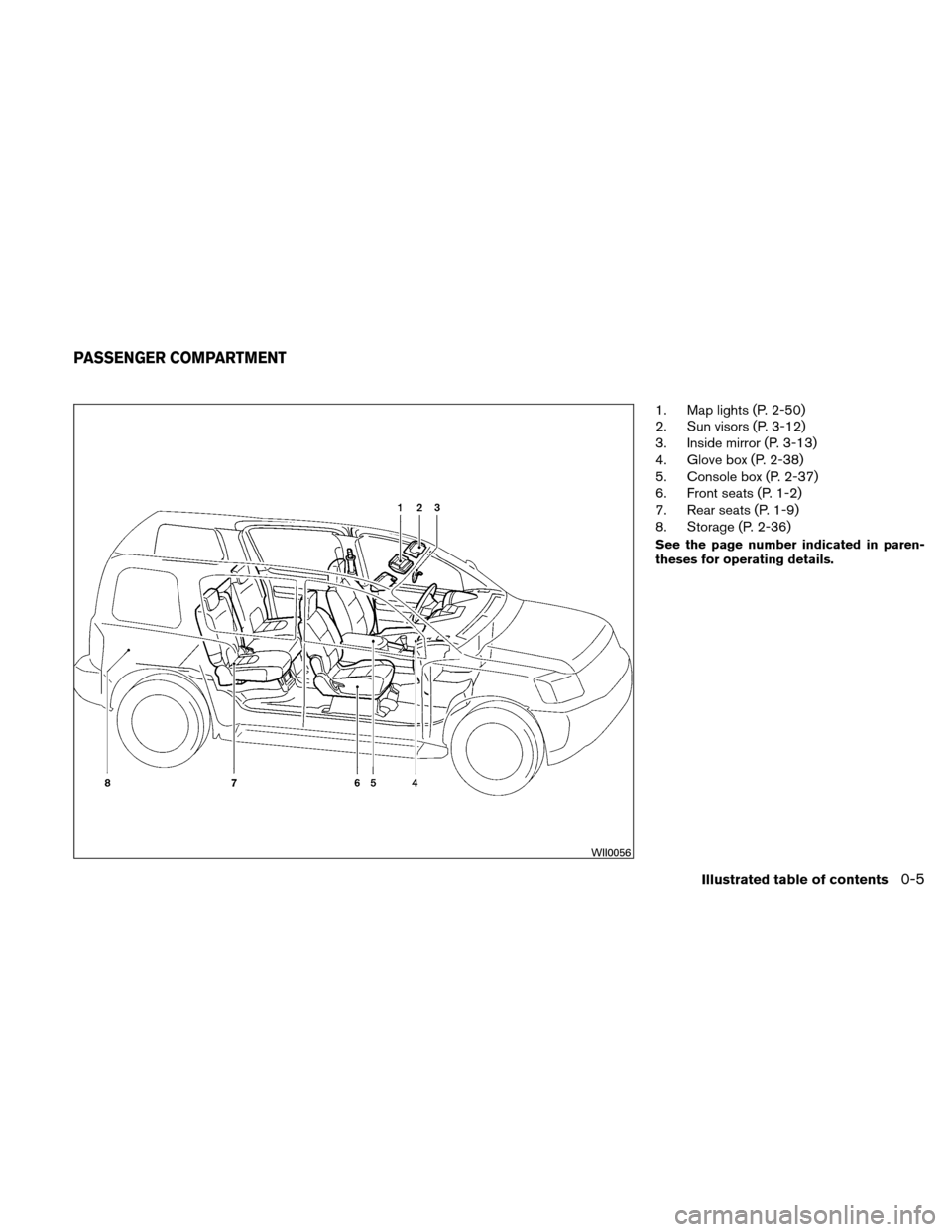 NISSAN XTERRA 2011 N50 / 2.G Owners Manual, Page 12