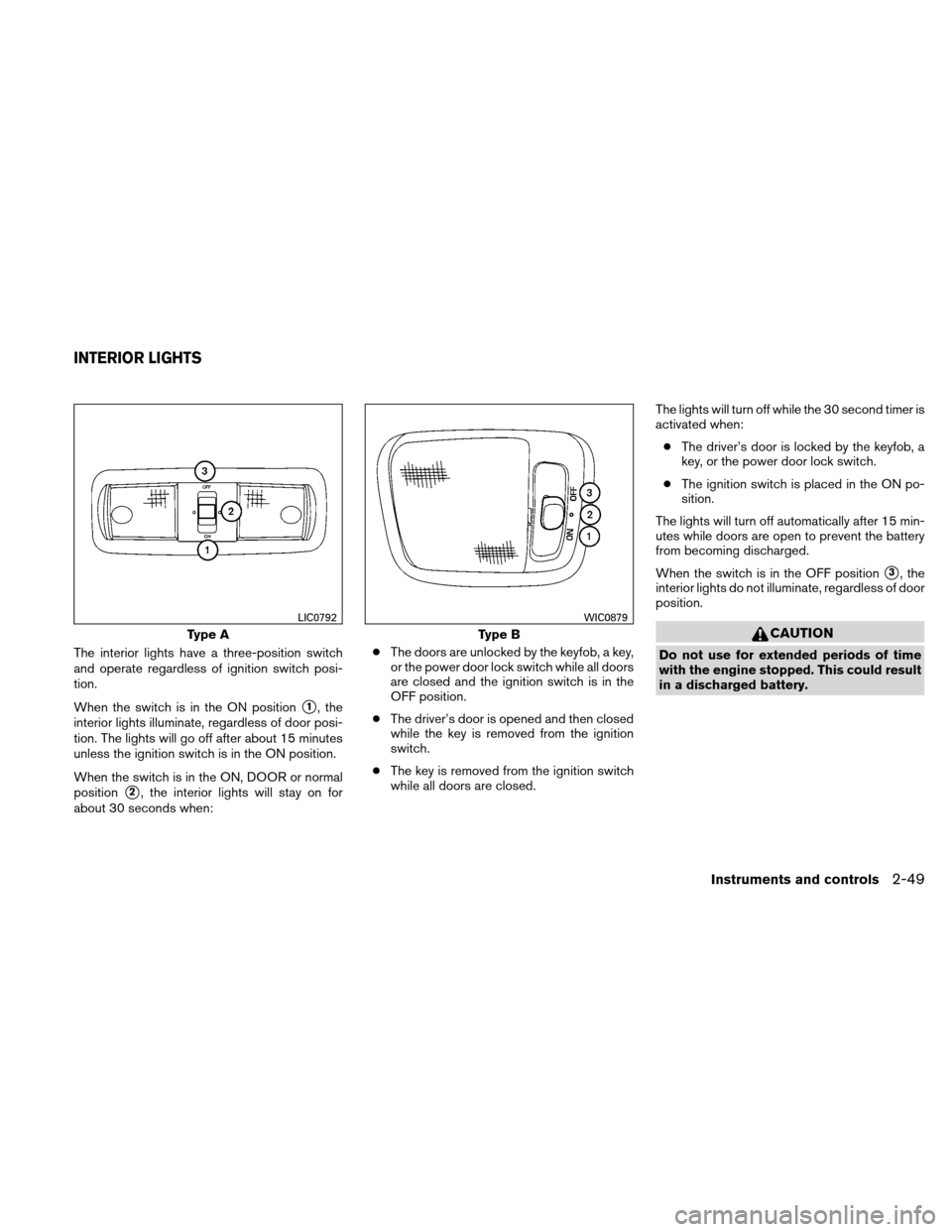 NISSAN XTERRA 2011 N50 / 2.G Owners Manual, Page 126