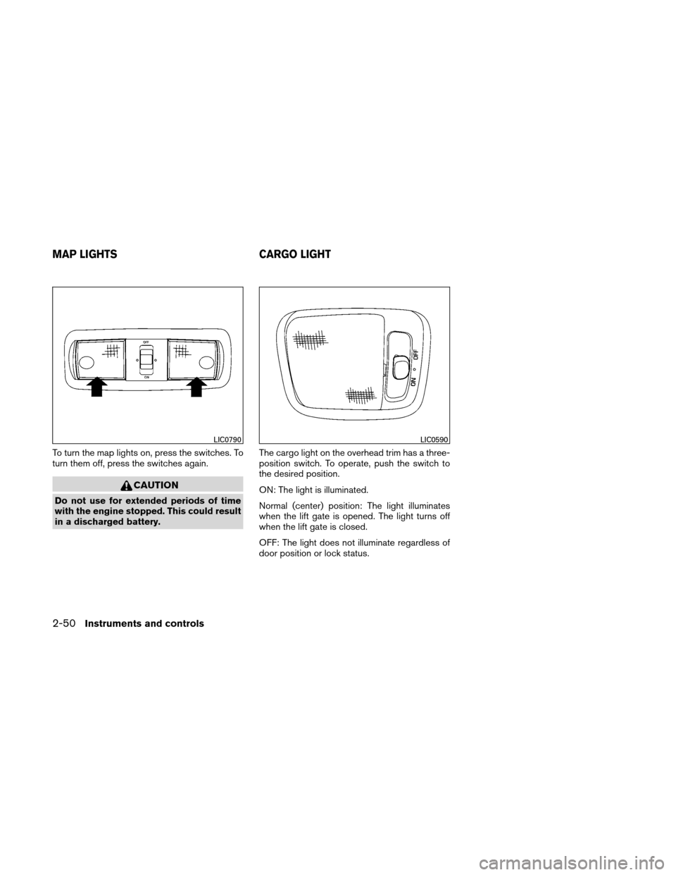 NISSAN XTERRA 2011 N50 / 2.G Owners Manual, Page 127