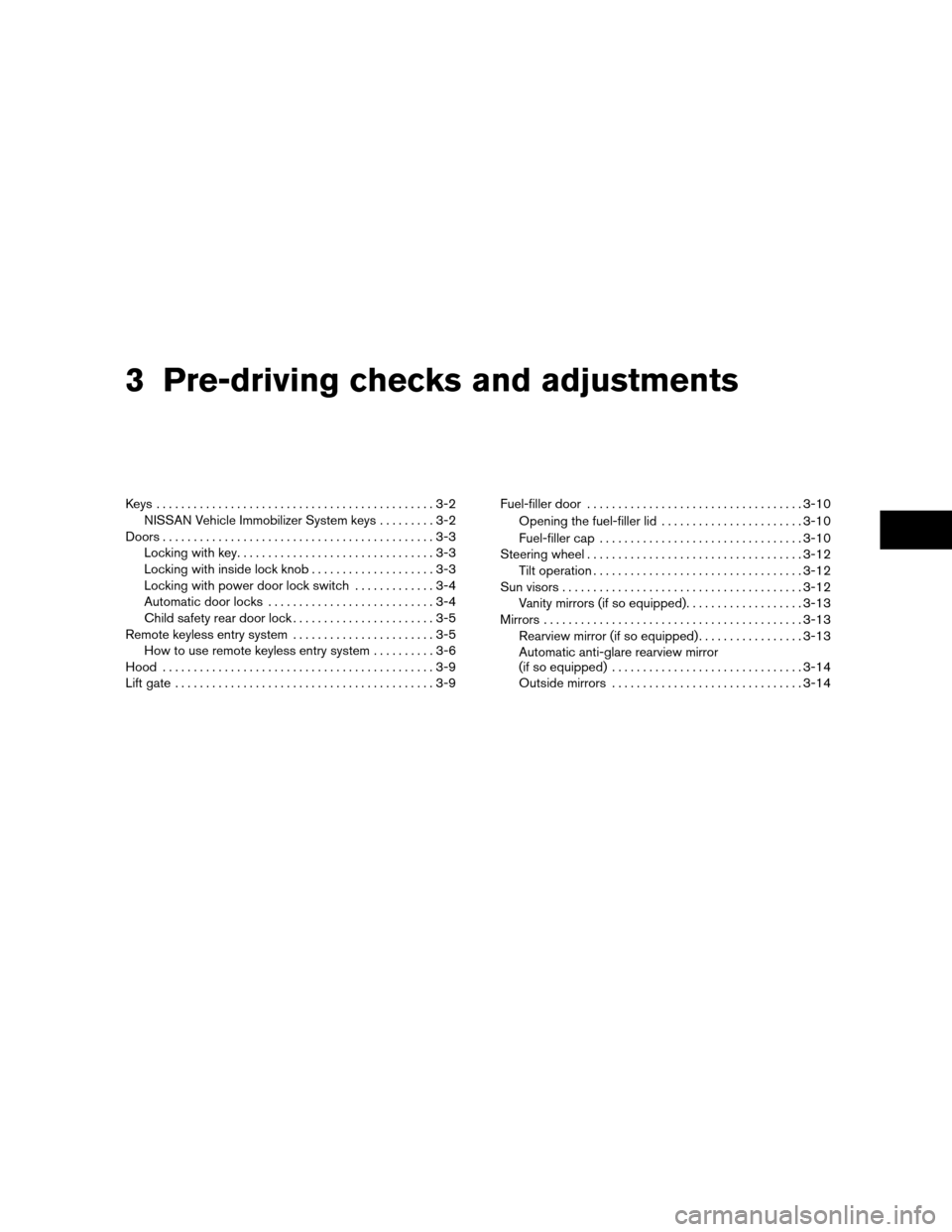 NISSAN XTERRA 2011 N50 / 2.G Owners Manual, Page 128