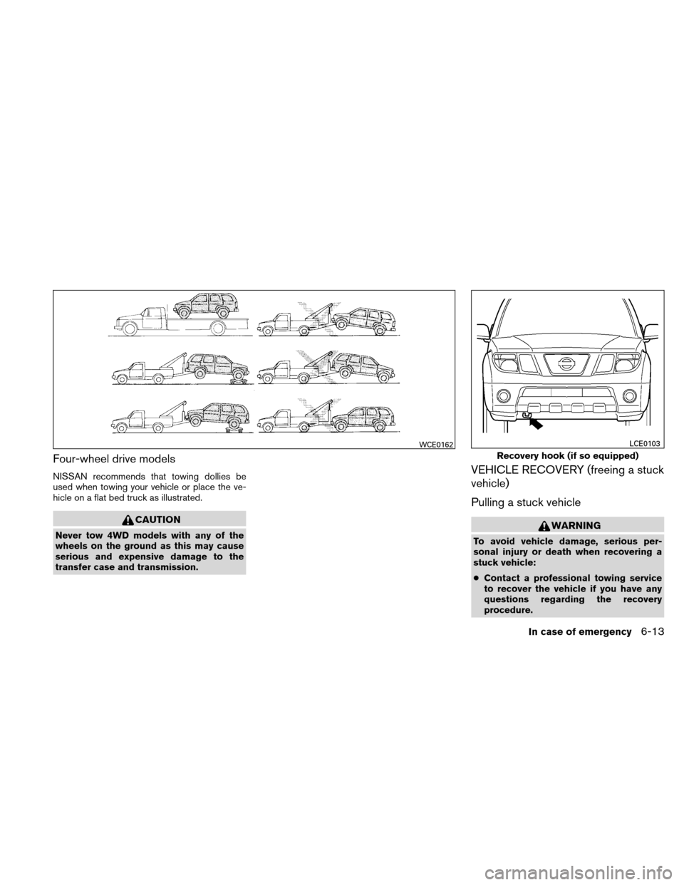 NISSAN XTERRA 2011 N50 / 2.G Owners Manual, Page 248