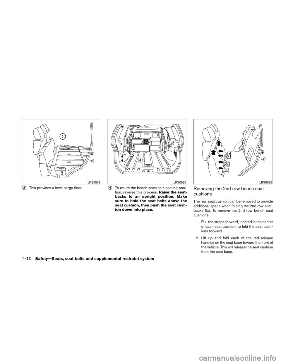 NISSAN XTERRA 2011 N50 / 2.G Owners Manual, Page 27