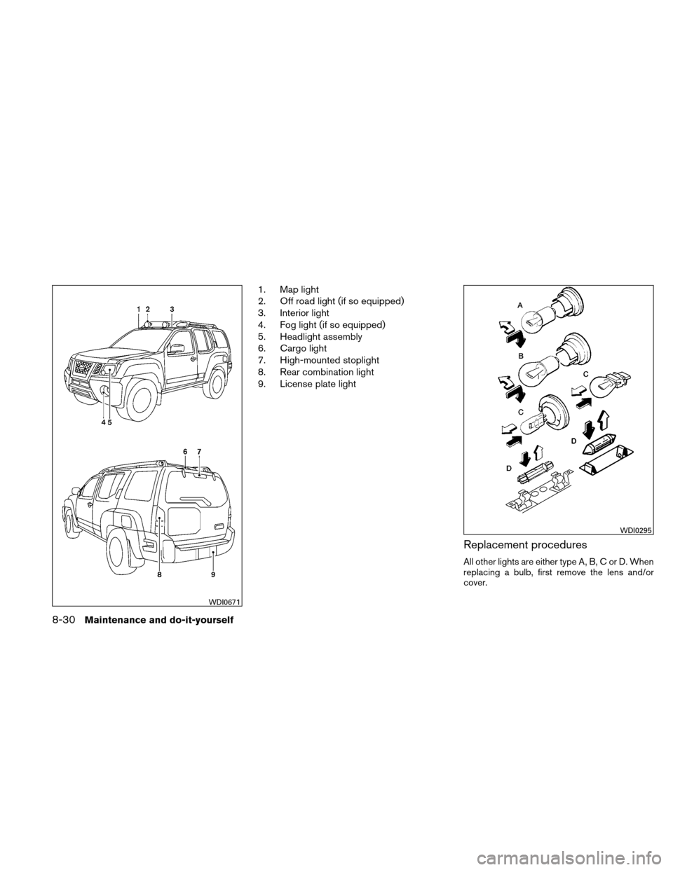 NISSAN XTERRA 2011 N50 / 2.G Owners Manual, Page 285