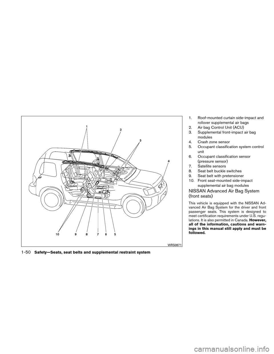 NISSAN XTERRA 2011 N50 / 2.G Owners Manual, Page 67