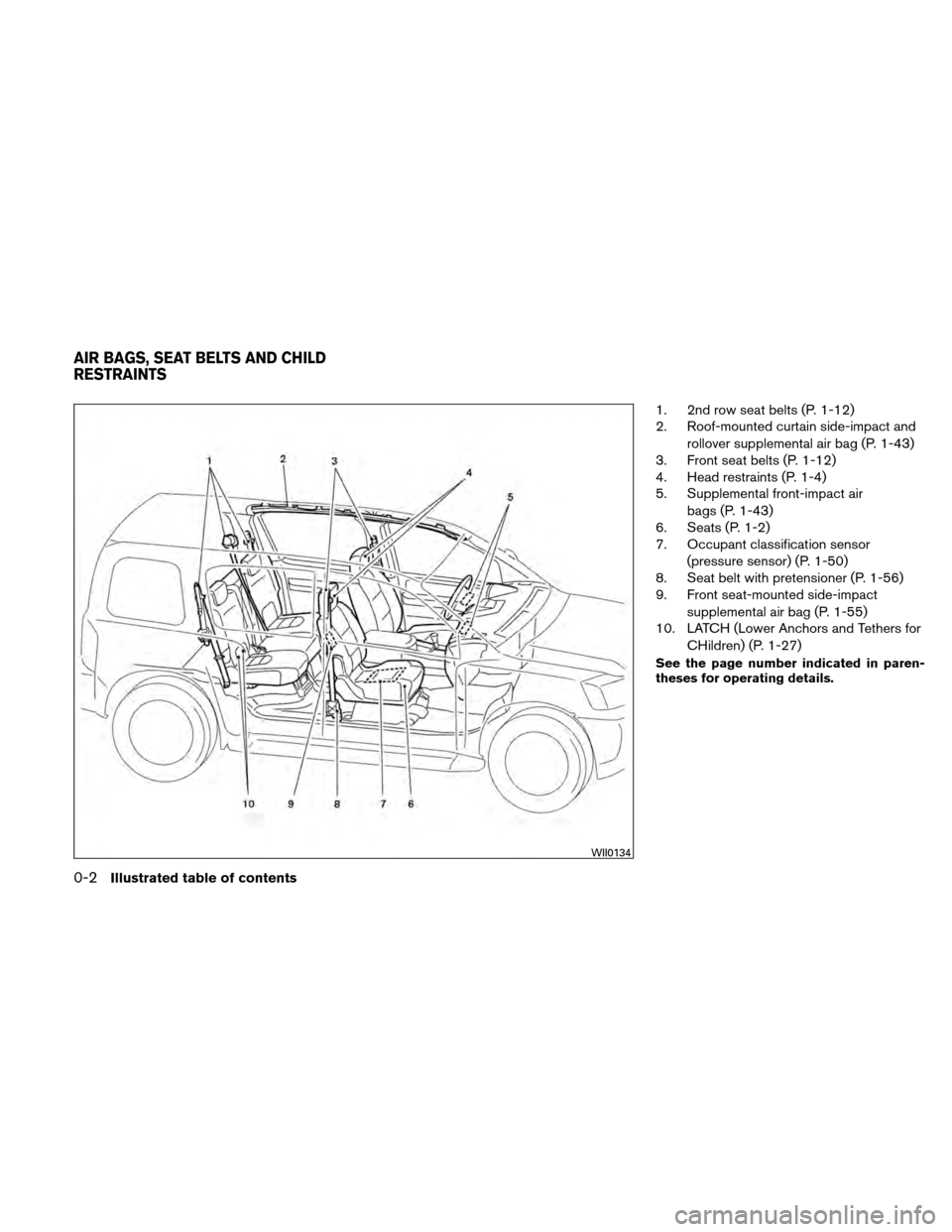 NISSAN XTERRA 2011 N50 / 2.G Owners Manual, Page 9