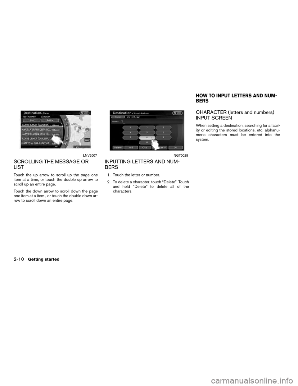 NISSAN ALTIMA COUPE 2012 D32 / 4.G Navigation Manual, Page 18