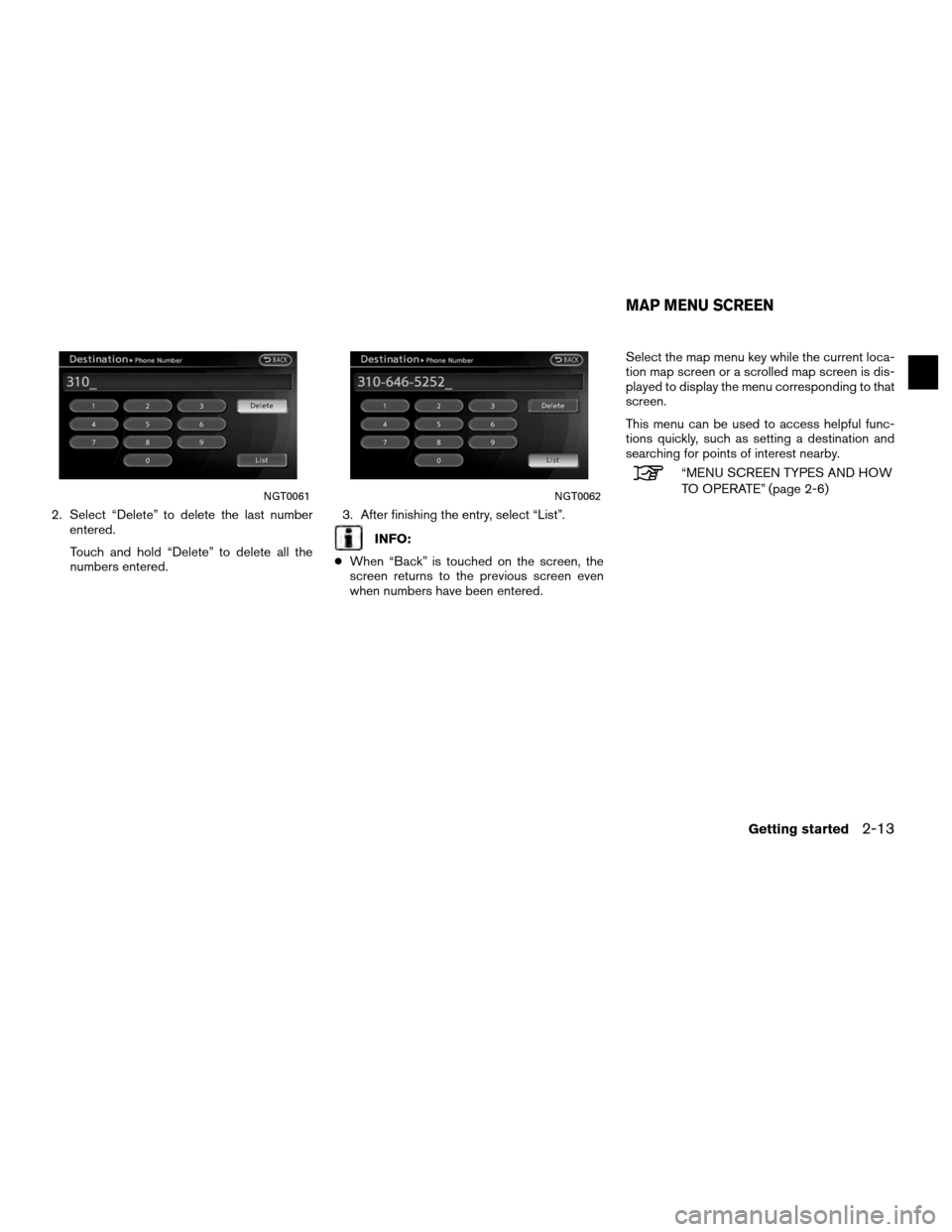 NISSAN ALTIMA COUPE 2012 D32 / 4.G Navigation Manual, Page 21
