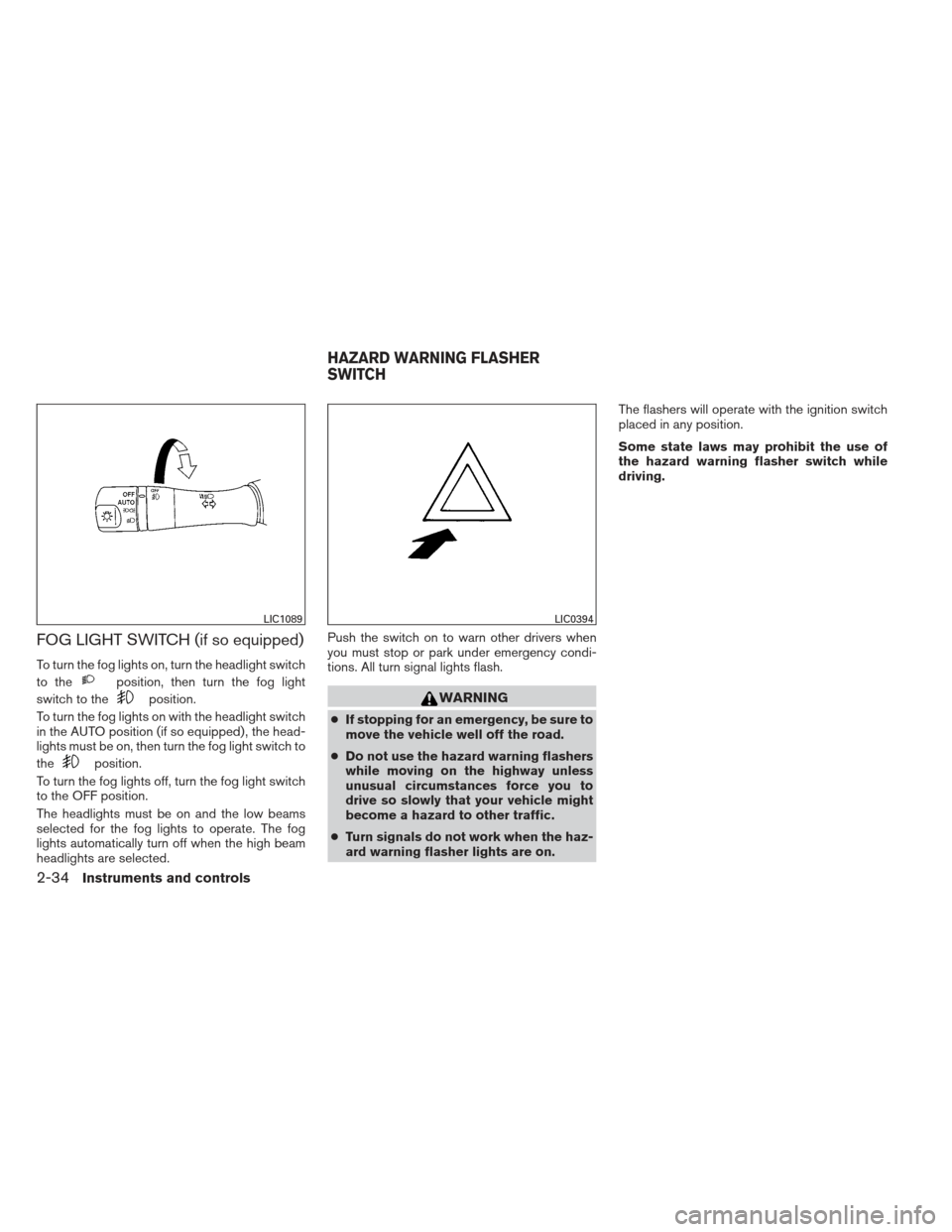 NISSAN ALTIMA COUPE 2012 D32 / 4.G Owners Manual, Page 111
