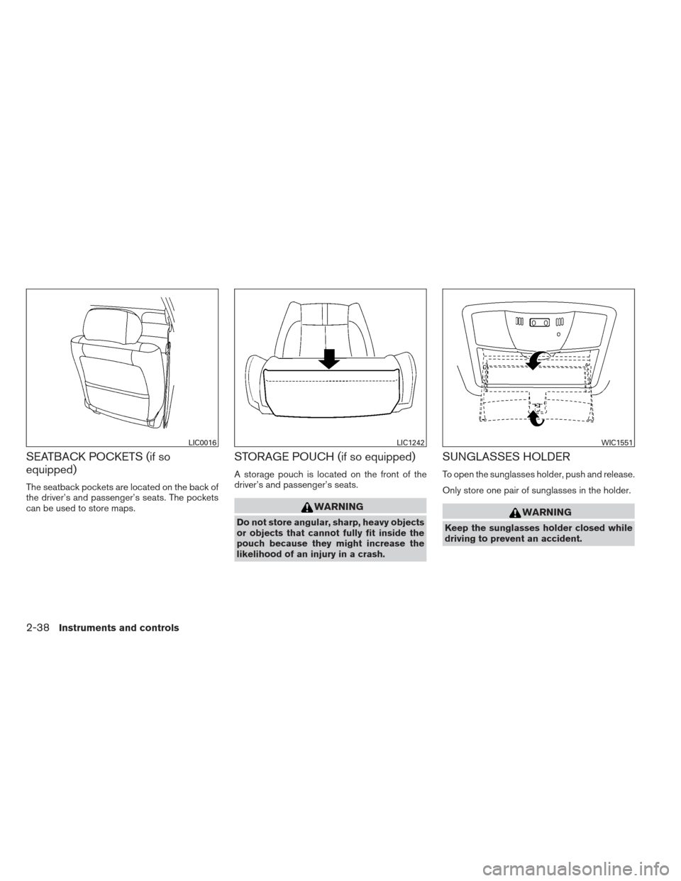 NISSAN ALTIMA COUPE 2012 D32 / 4.G Owners Manual, Page 115