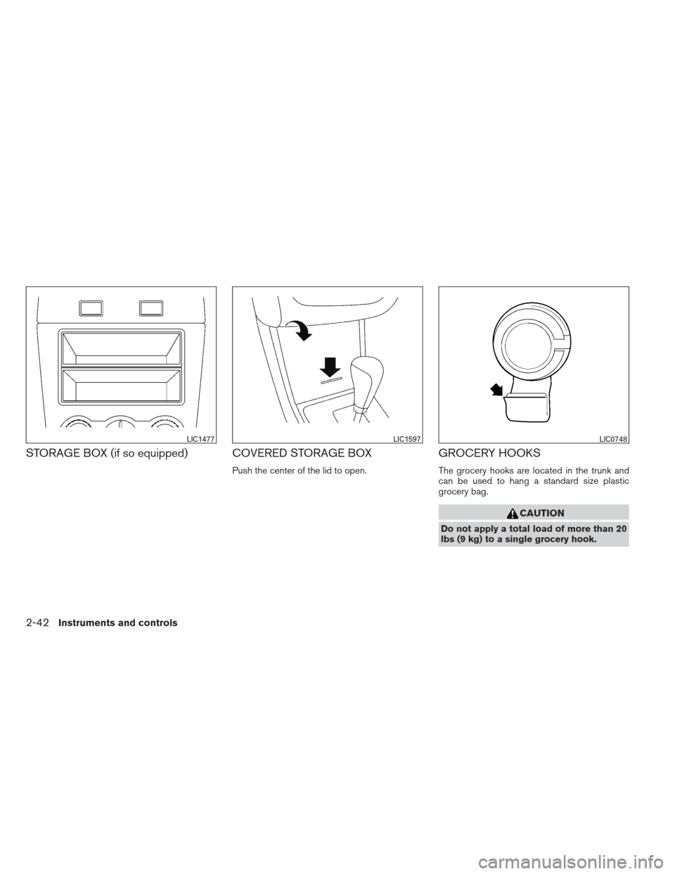 NISSAN ALTIMA COUPE 2012 D32 / 4.G Owners Manual, Page 119