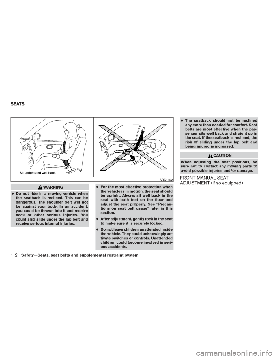 NISSAN ALTIMA COUPE 2012 D32 / 4.G Owners Manual, Page 21