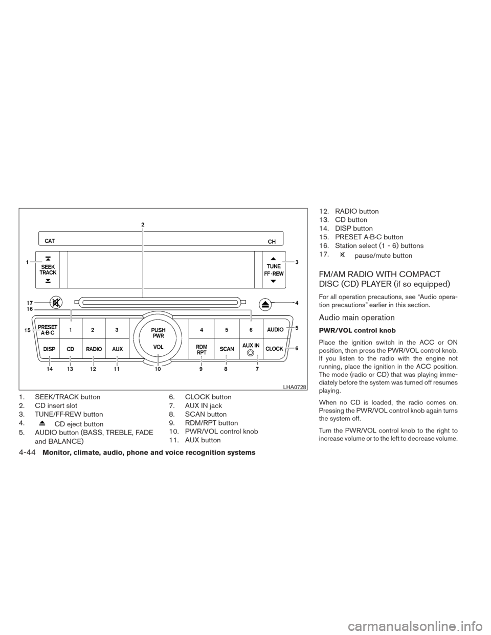 NISSAN ALTIMA COUPE 2012 D32 / 4.G Owners Manual, Page 211