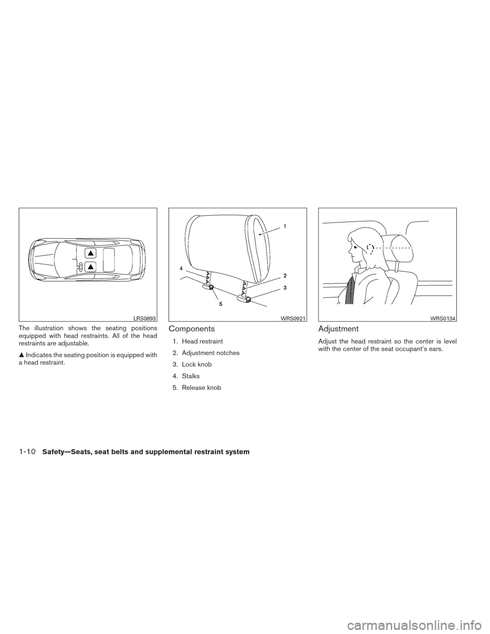 NISSAN ALTIMA COUPE 2012 D32 / 4.G Owners Manual, Page 29
