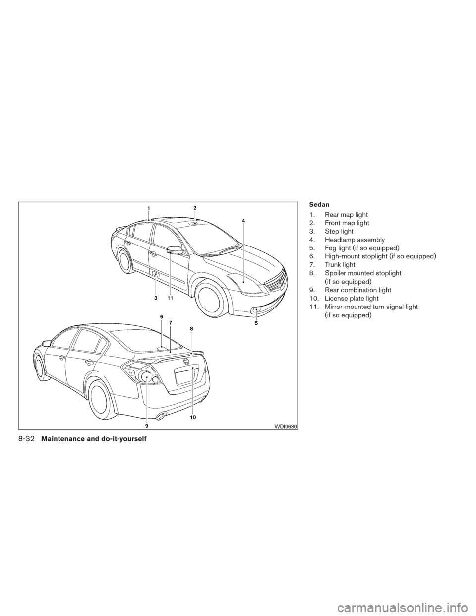 NISSAN ALTIMA COUPE 2012 D32 / 4.G Owners Manual, Page 399