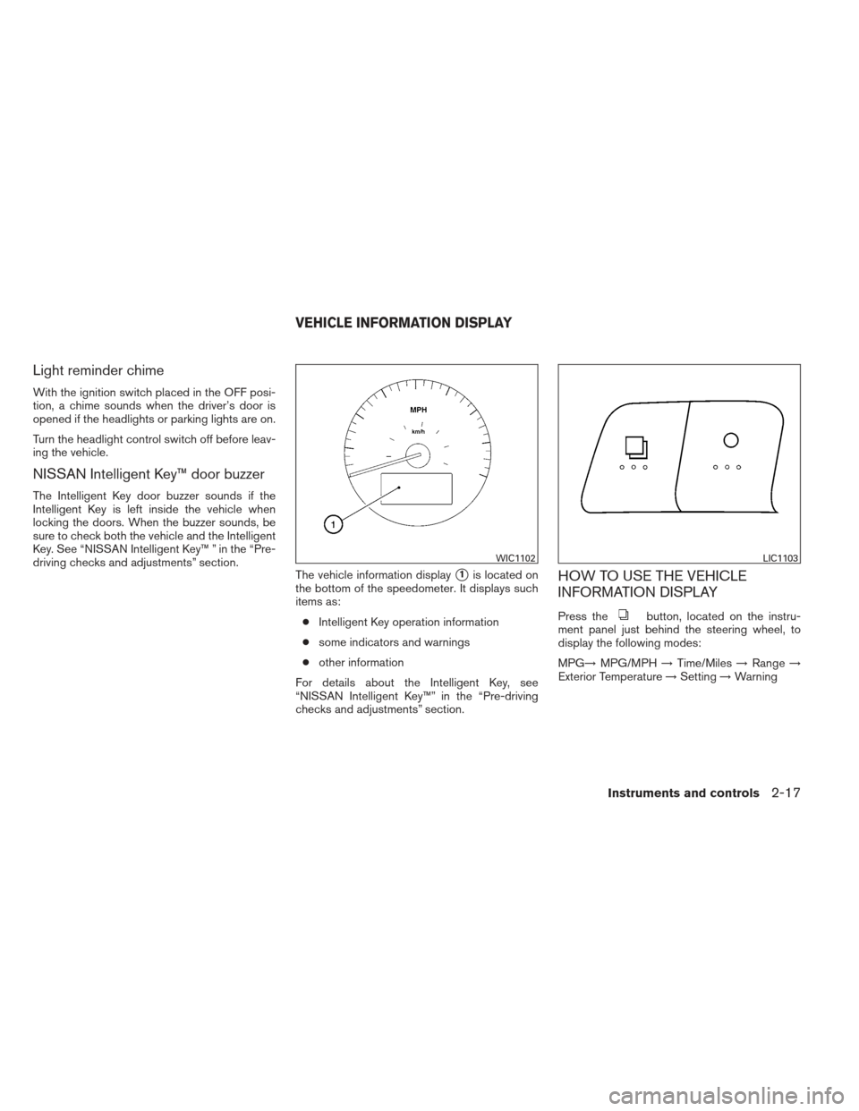 NISSAN ALTIMA COUPE 2012 D32 / 4.G Owners Manual, Page 94