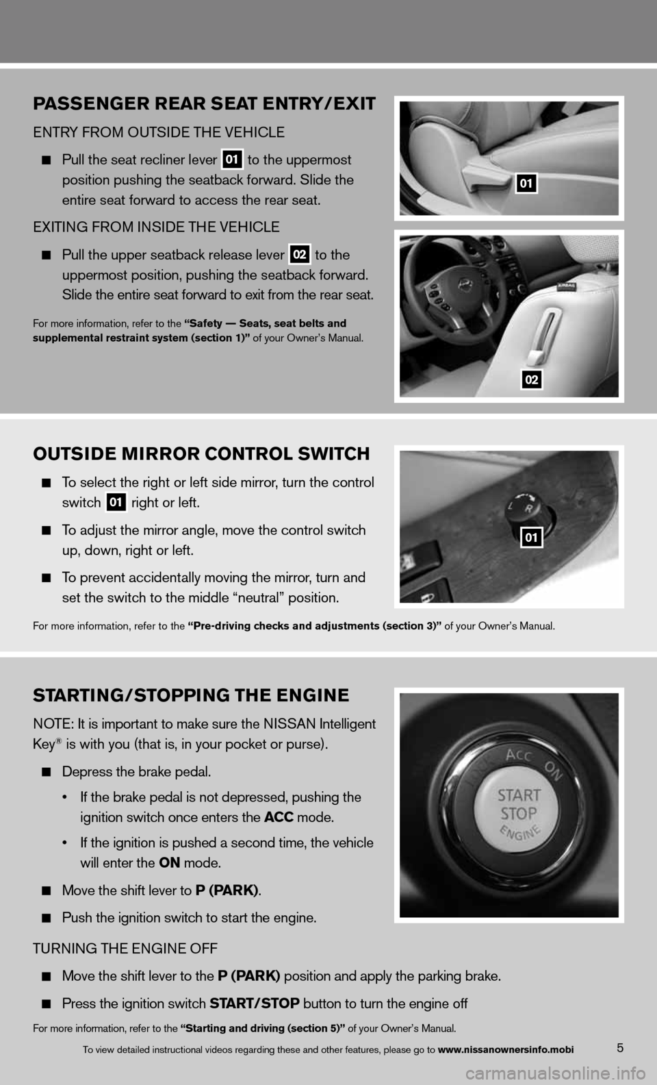 nissan altima coupe 2013 d32 4 g quick reference guide rh carmanualsonline info Training Quick Reference Guides Quick Reference Guide Clip Art