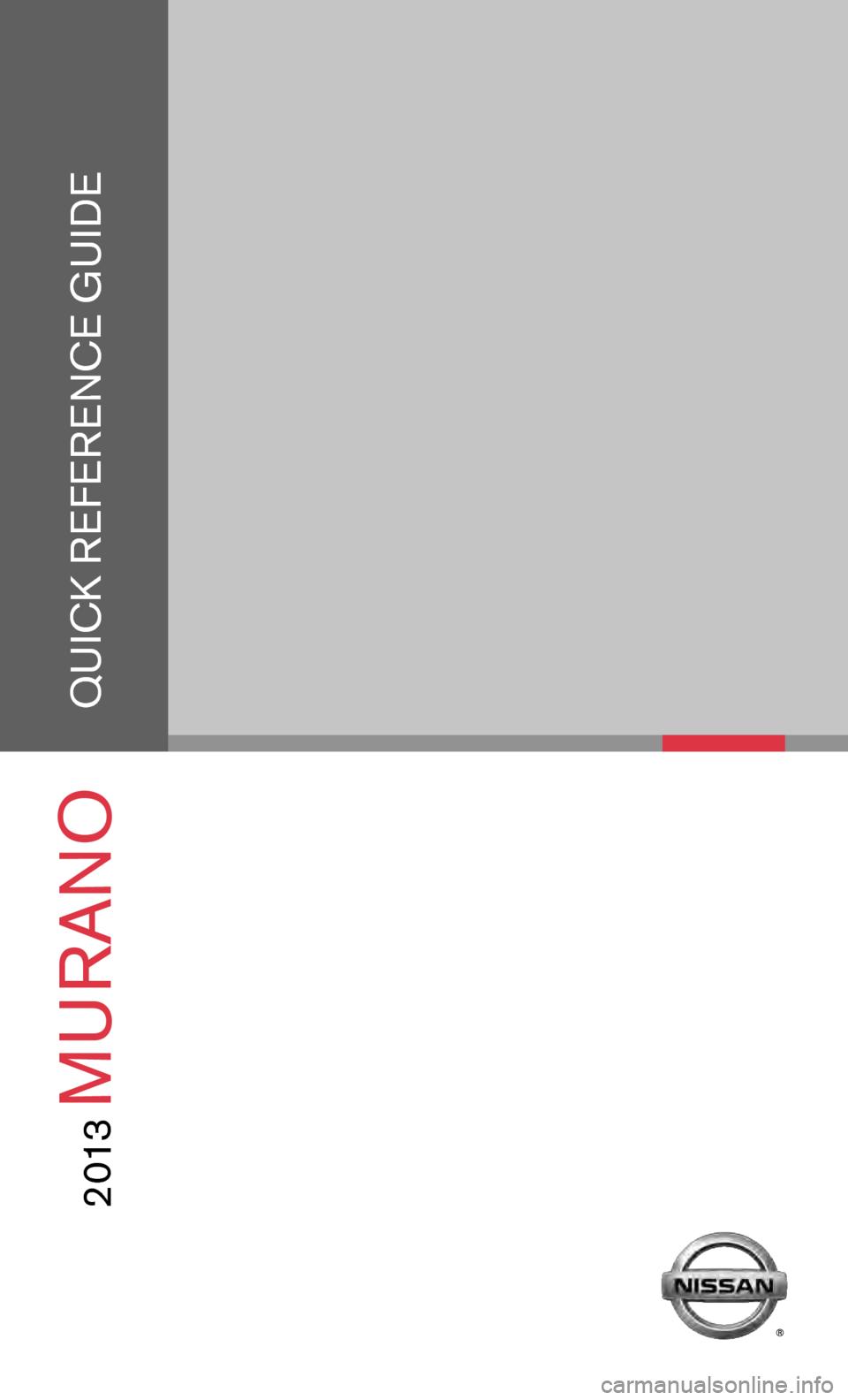 Nissan murano 2013 2g quick reference guide vanachro Choice Image