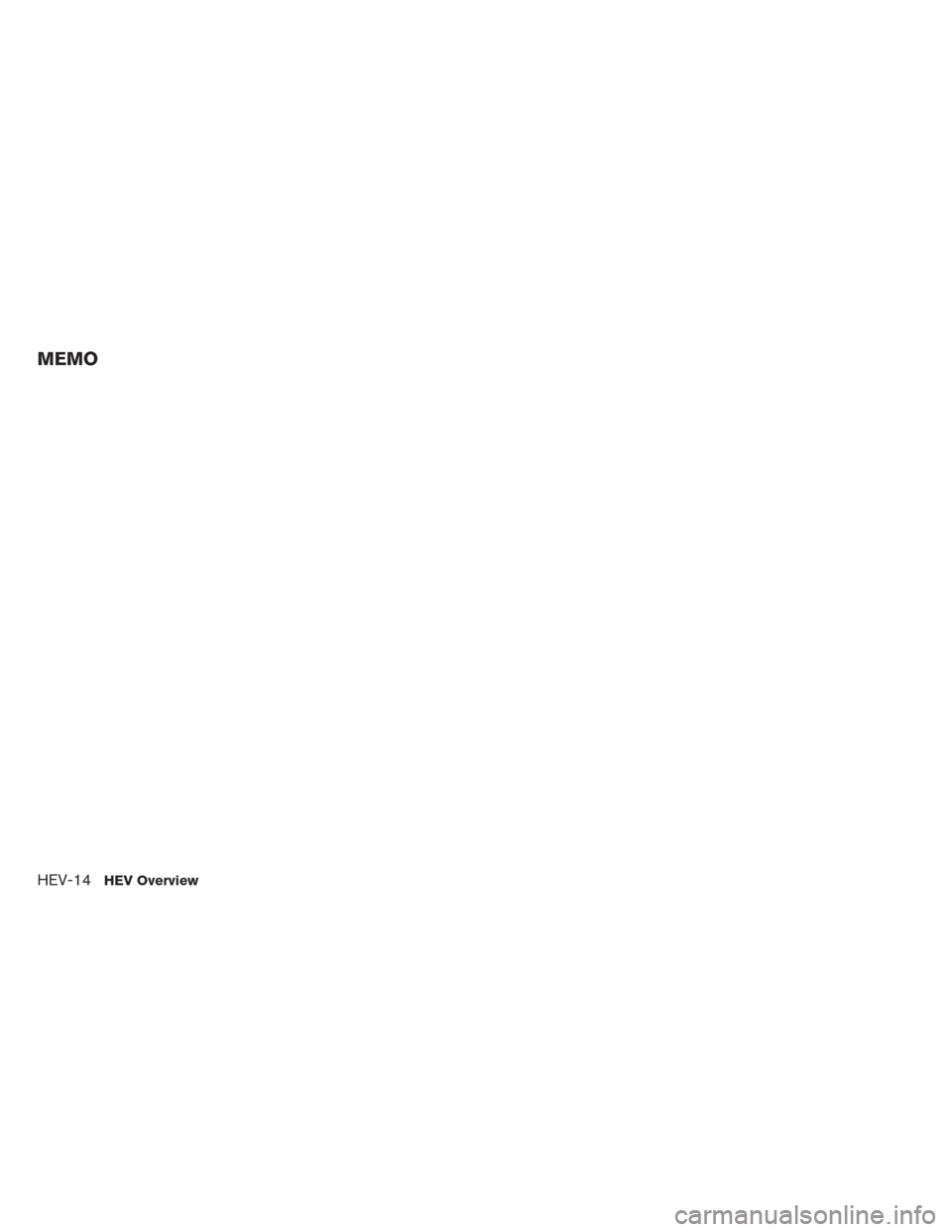 NISSAN PATHFINDER HYBRID 2014 R52 / 4.G Owners Manual, Page 21
