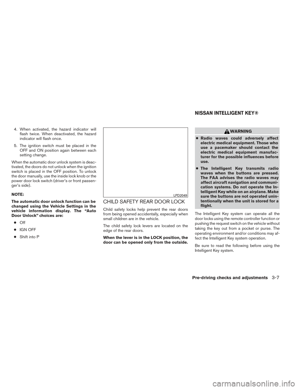 NISSAN PATHFINDER HYBRID 2014 R52 / 4.G Owners Manual, Page 237