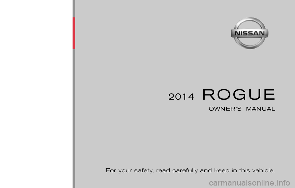 Nissan Rogue 2014 2 G Owners Manual 442 Pages