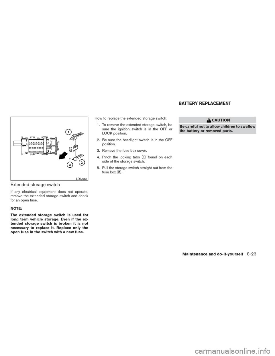 Nissan Versa Sedan 2014 2g Owners Manual Fuse Box