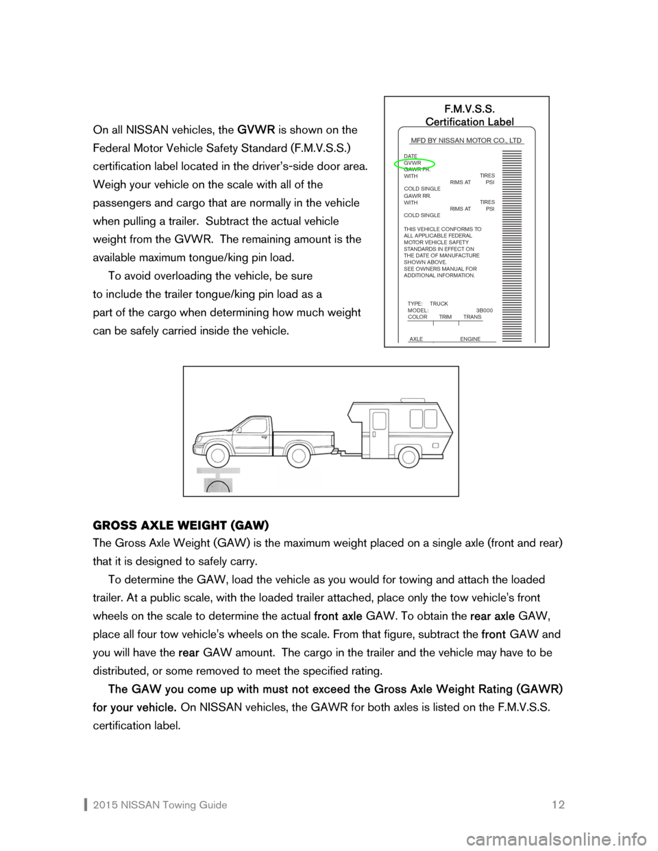 NISSAN QUEST 2015 RE52 / 4.G Towing Guide, Page 13