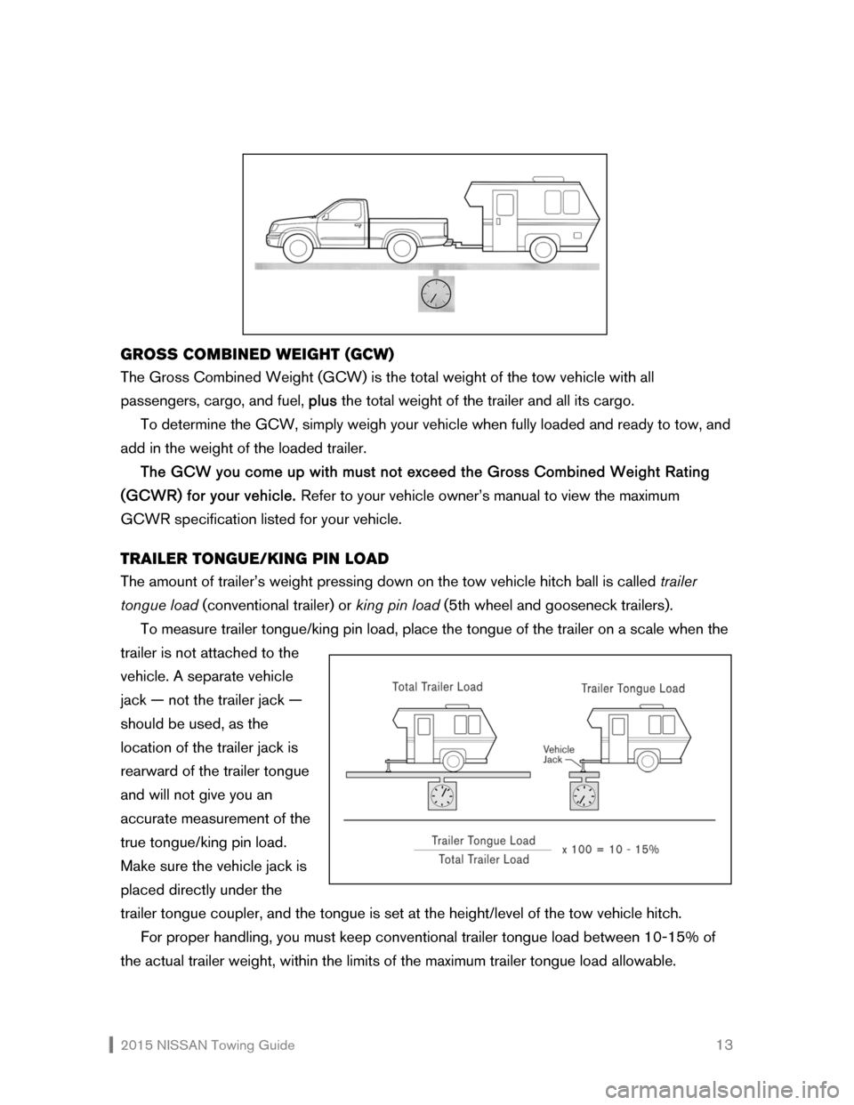 NISSAN QUEST 2015 RE52 / 4.G Towing Guide, Page 14