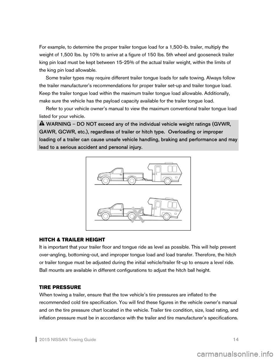 NISSAN QUEST 2015 RE52 / 4.G Towing Guide, Page 15