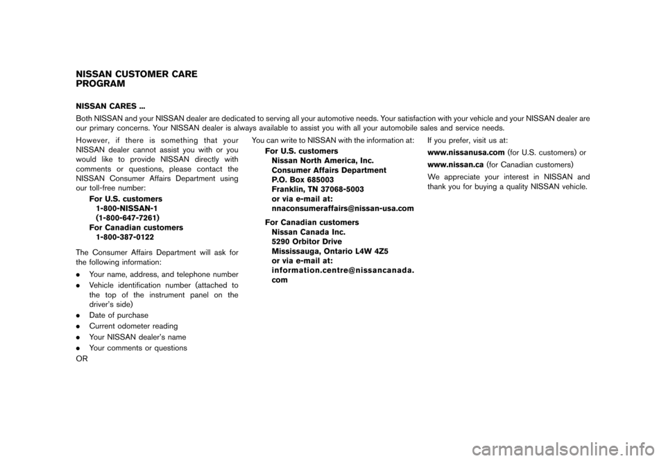 NISSAN JUKE 2015 F15 / 1.G Owners Manual, Page 5