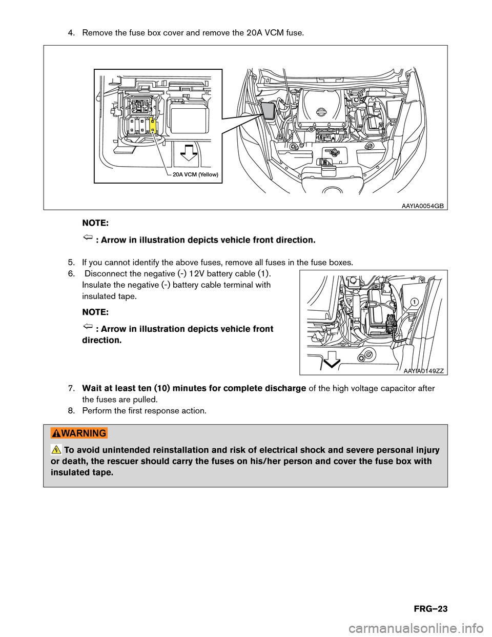 Fuses Nissan Leaf 2015 1g First Responders Guide Battery Fuse Box Page 23