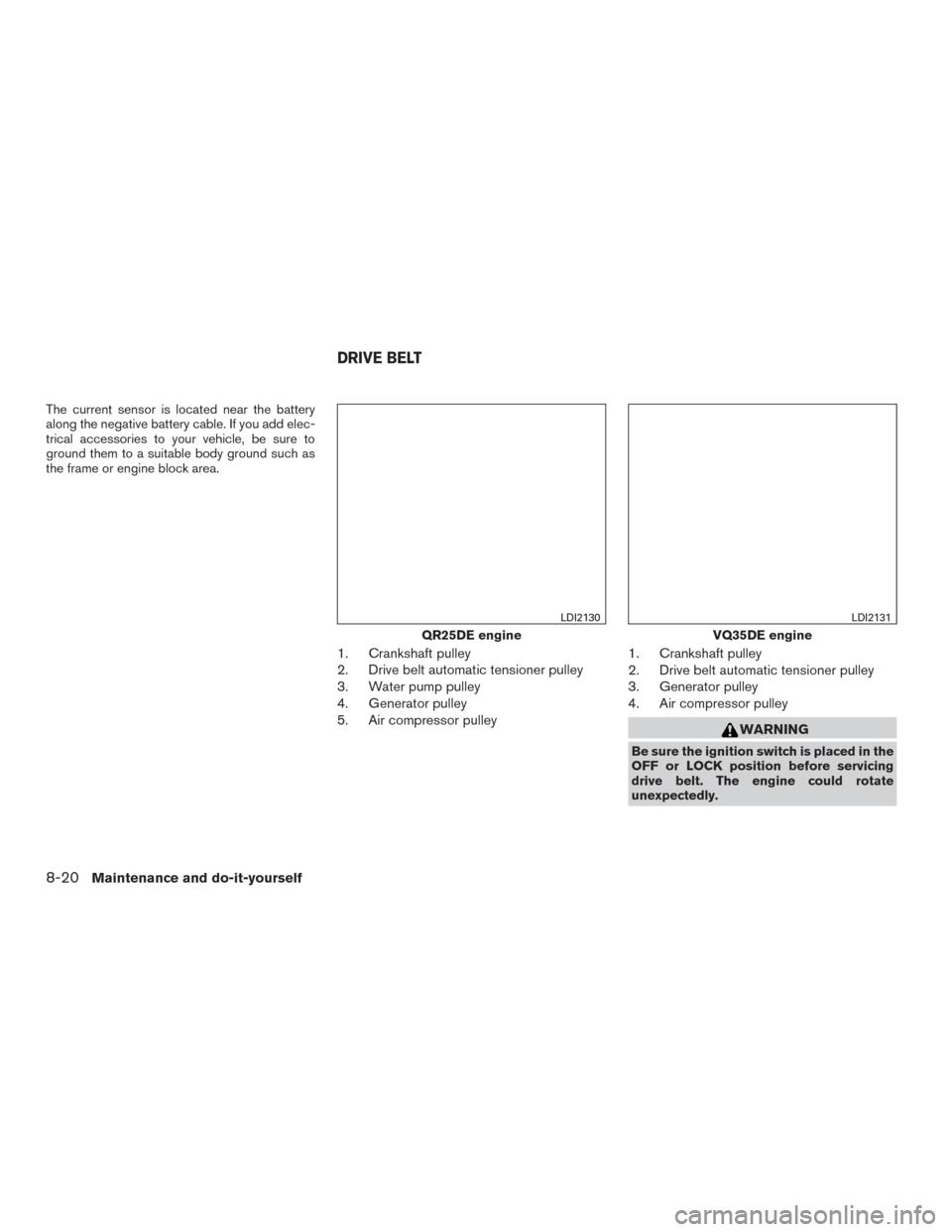Nissan Altima 2016 L33 5g Idler Pulley Diagram