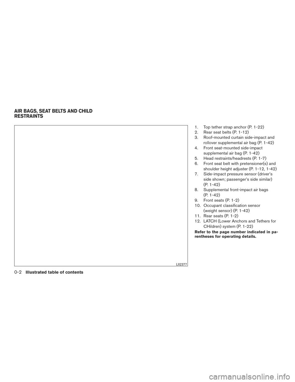 NISSAN ALTIMA 2016 L33 / 5.G Owners Manual, Page 9