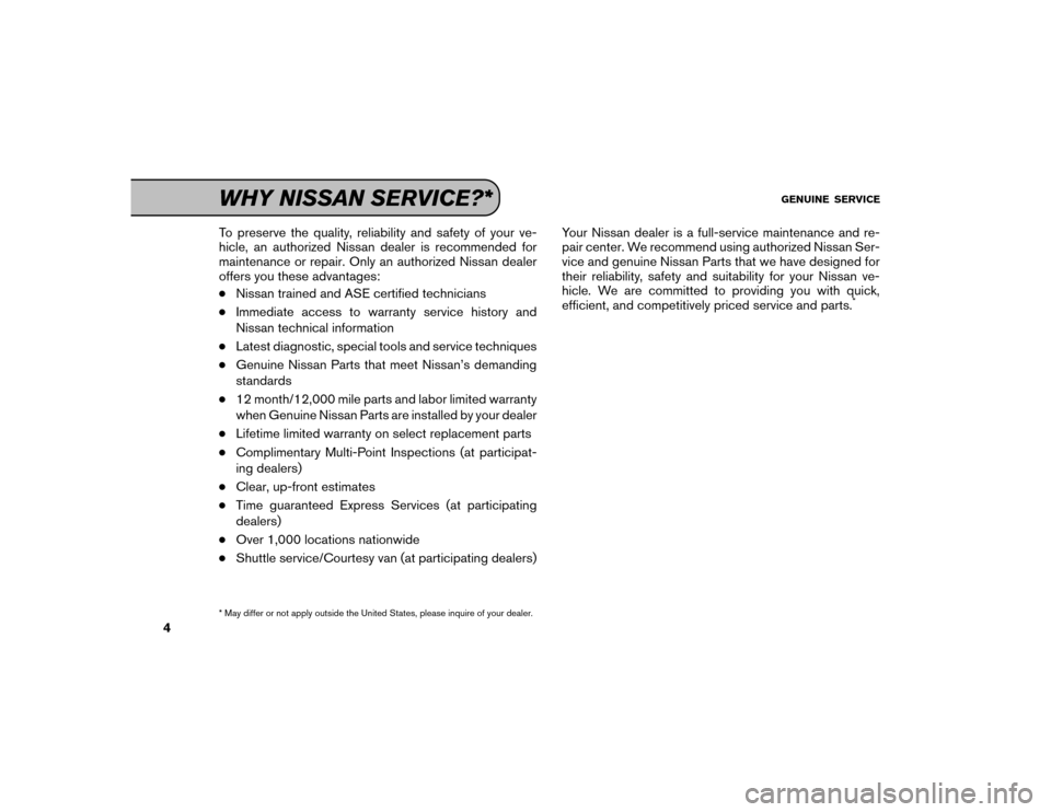 NISSAN GT-R 2016 R35 Service And Maintenance Guide, Page 5