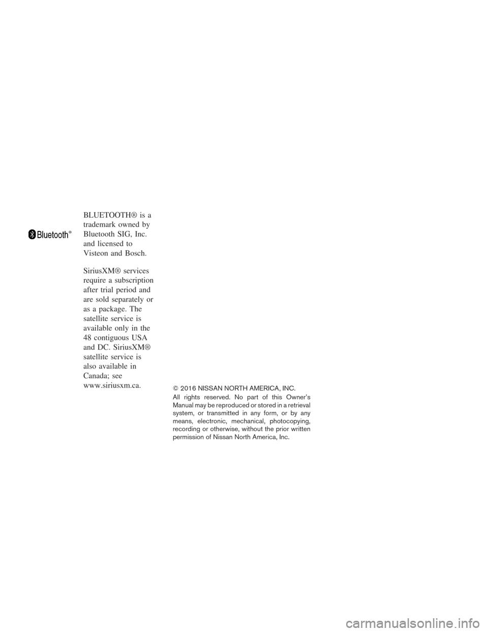 nissan rogue 2016 2 g owners manual. Black Bedroom Furniture Sets. Home Design Ideas