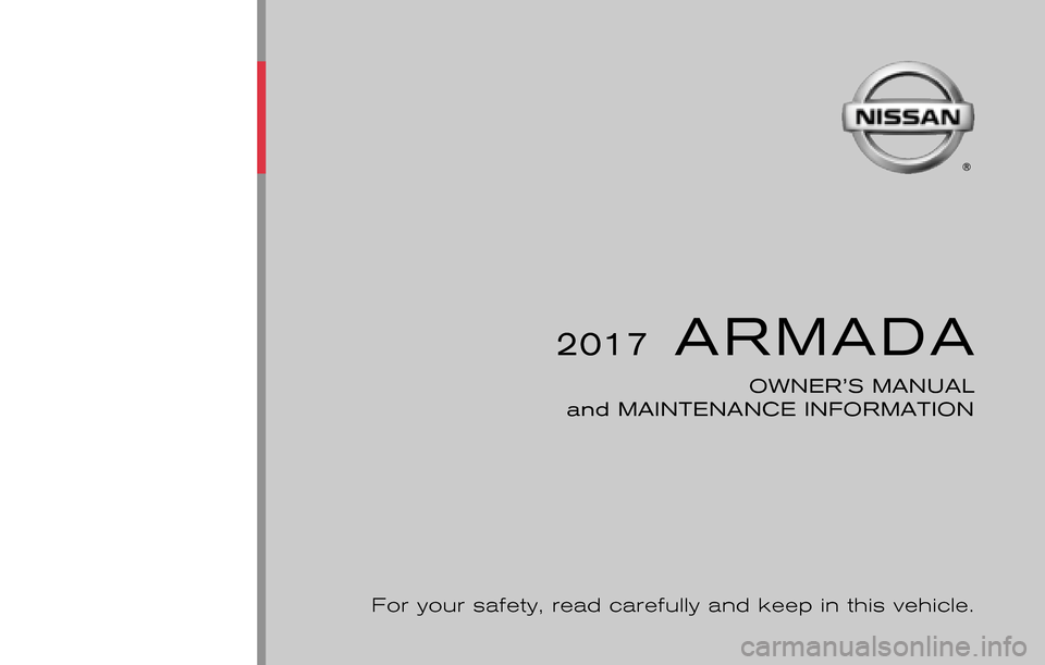 NISSAN ARMADA 2017 2.G Owners Manual, Page 1
