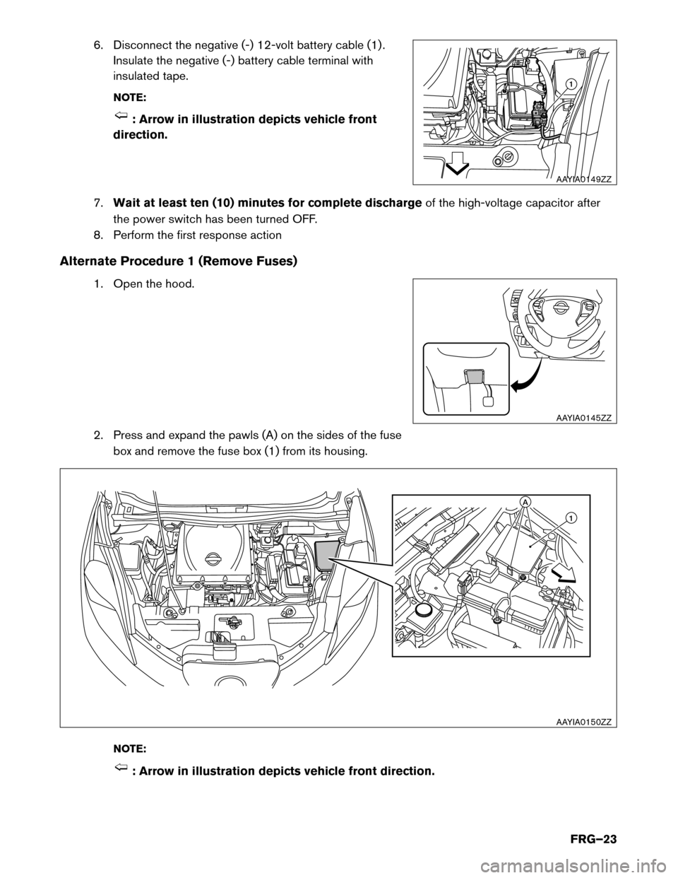 Fuses Nissan Leaf 2017 1g First Responders Guide Note Fuse Box Cover Page 23