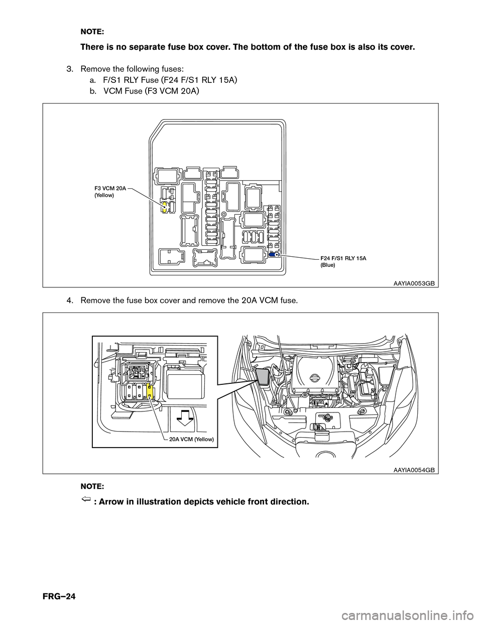 Fuses Nissan Leaf 2017 1g First Responders Guide Fuse Box Cover Page 24 Note There Is No Separate