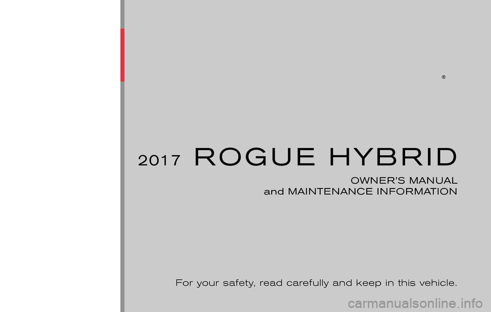 nissan rogue hybrid 2017 2 g owners manual. Black Bedroom Furniture Sets. Home Design Ideas