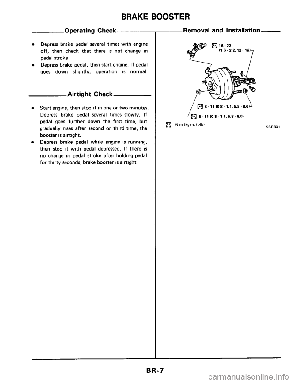 NISSAN 300ZX 1984 Z31 Brake System Workshop Manual, Page 7