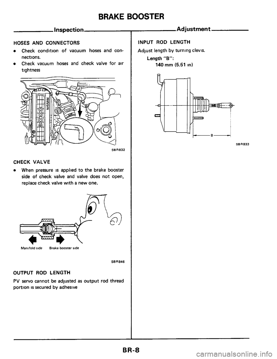 NISSAN 300ZX 1984 Z31 Brake System Workshop Manual, Page 8