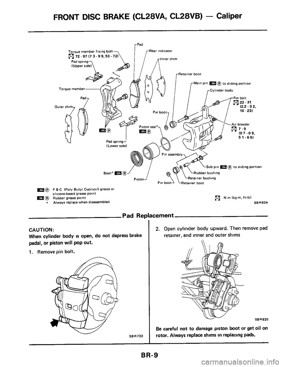 NISSAN 300ZX 1984 Z31 Brake System Workshop Manual, Page 9