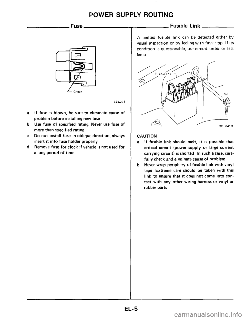 NISSAN 300ZX 1984 Z31 Electrical System Workshop Manual, Page 5