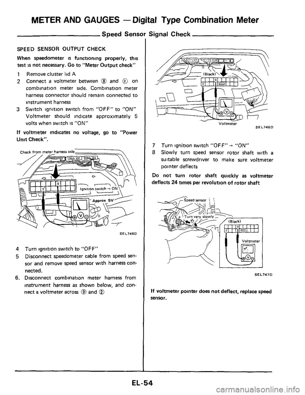 NISSAN 300ZX 1984 Z31 Electrical System Workshop Manual on