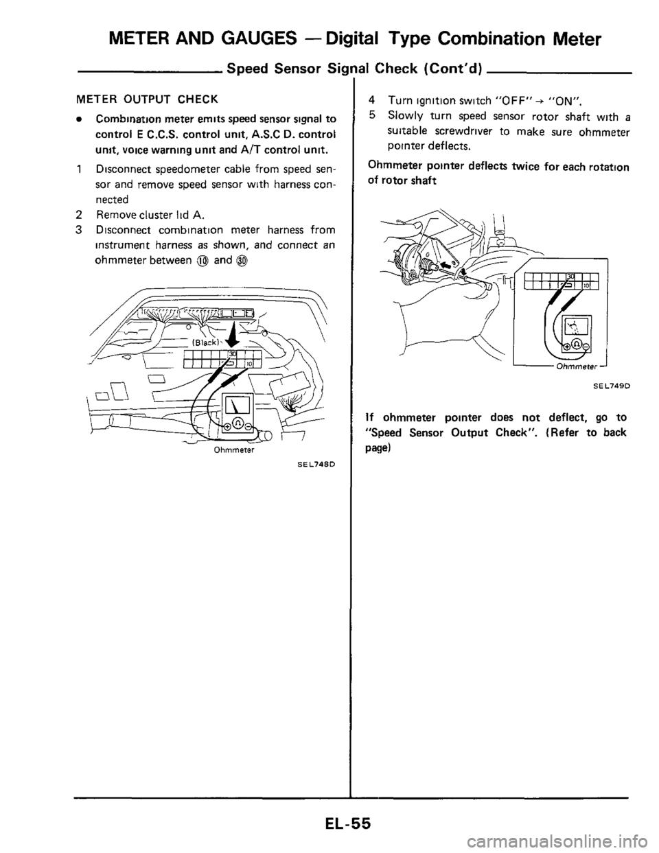 Nissan 300zx 1984 Z31 Electrical System Workshop Manual, Page 55