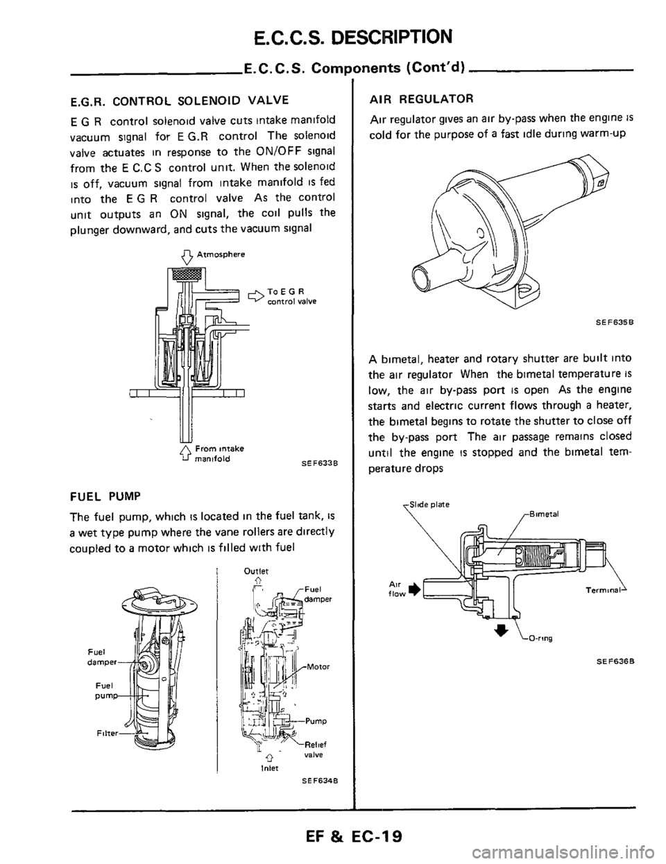 1984 300zx Heater Control Vacuum Diagram Trusted Schematics Z32 Engine Coil Esp Nissan Z31 Fuel And Emission System Mustang