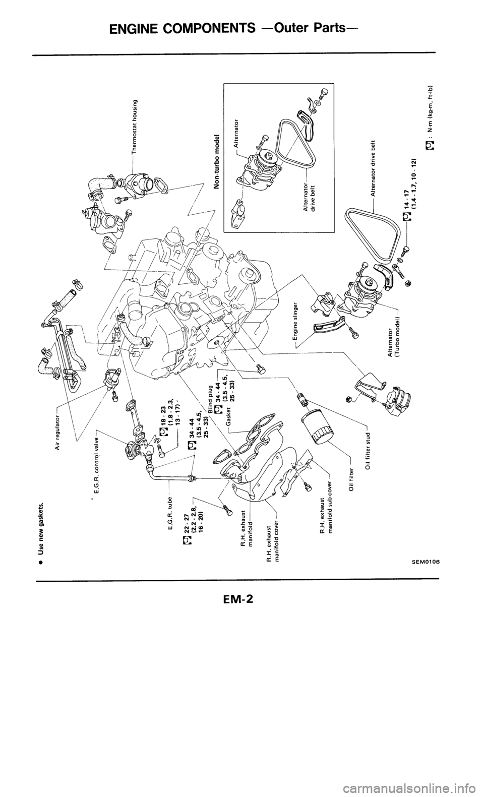 Nissan zx z engine mechanical workshop manual