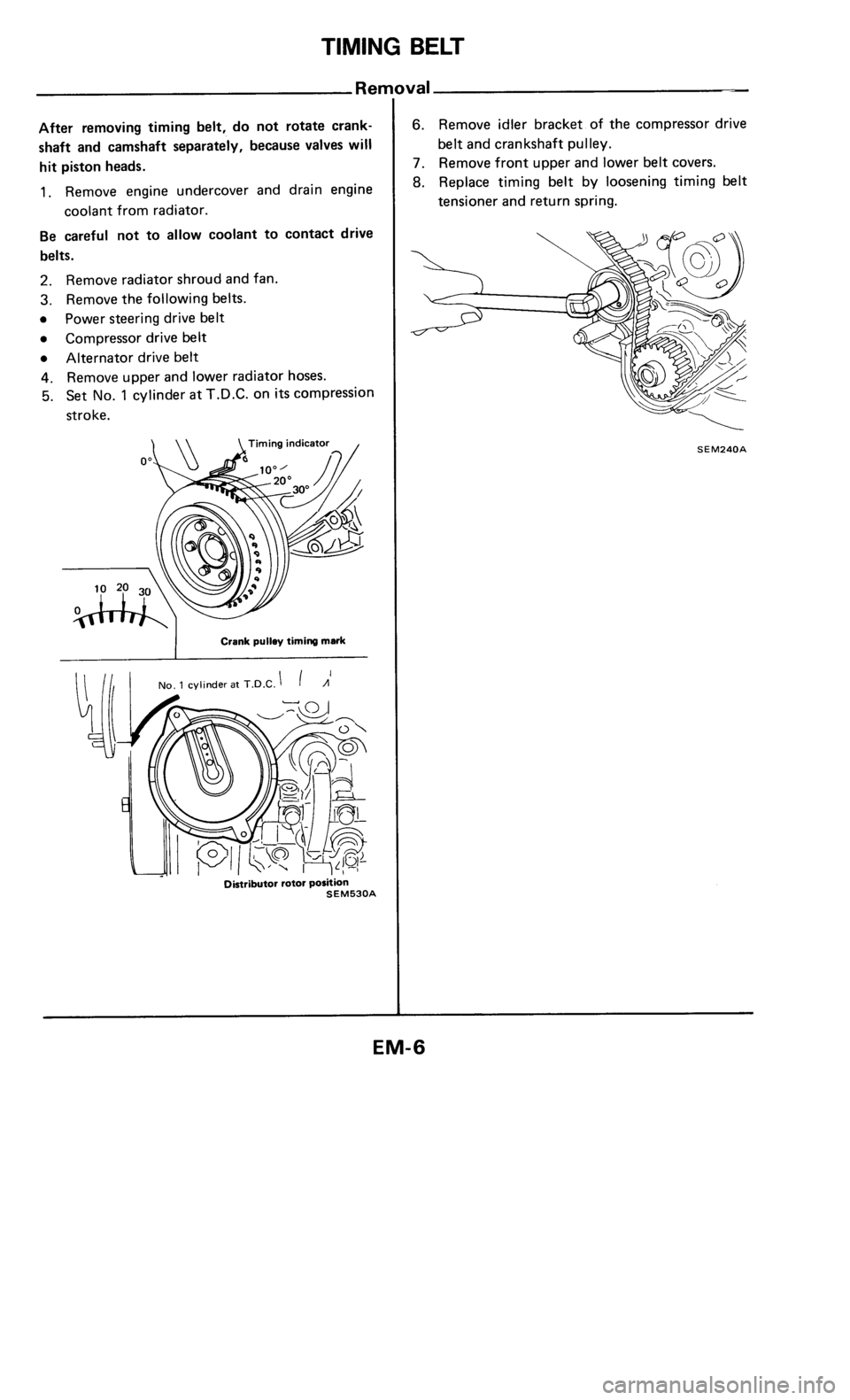 NISSAN 300ZX 1984 Z31 Engine Mechanical Workshop Manual, Page 6