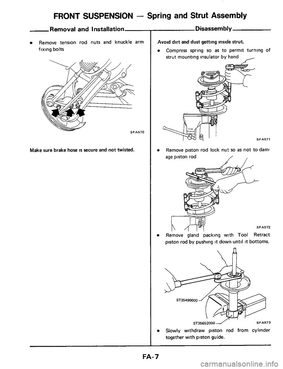NISSAN 300ZX 1984 Z31 Front Suspension Workshop Manual, Page 7