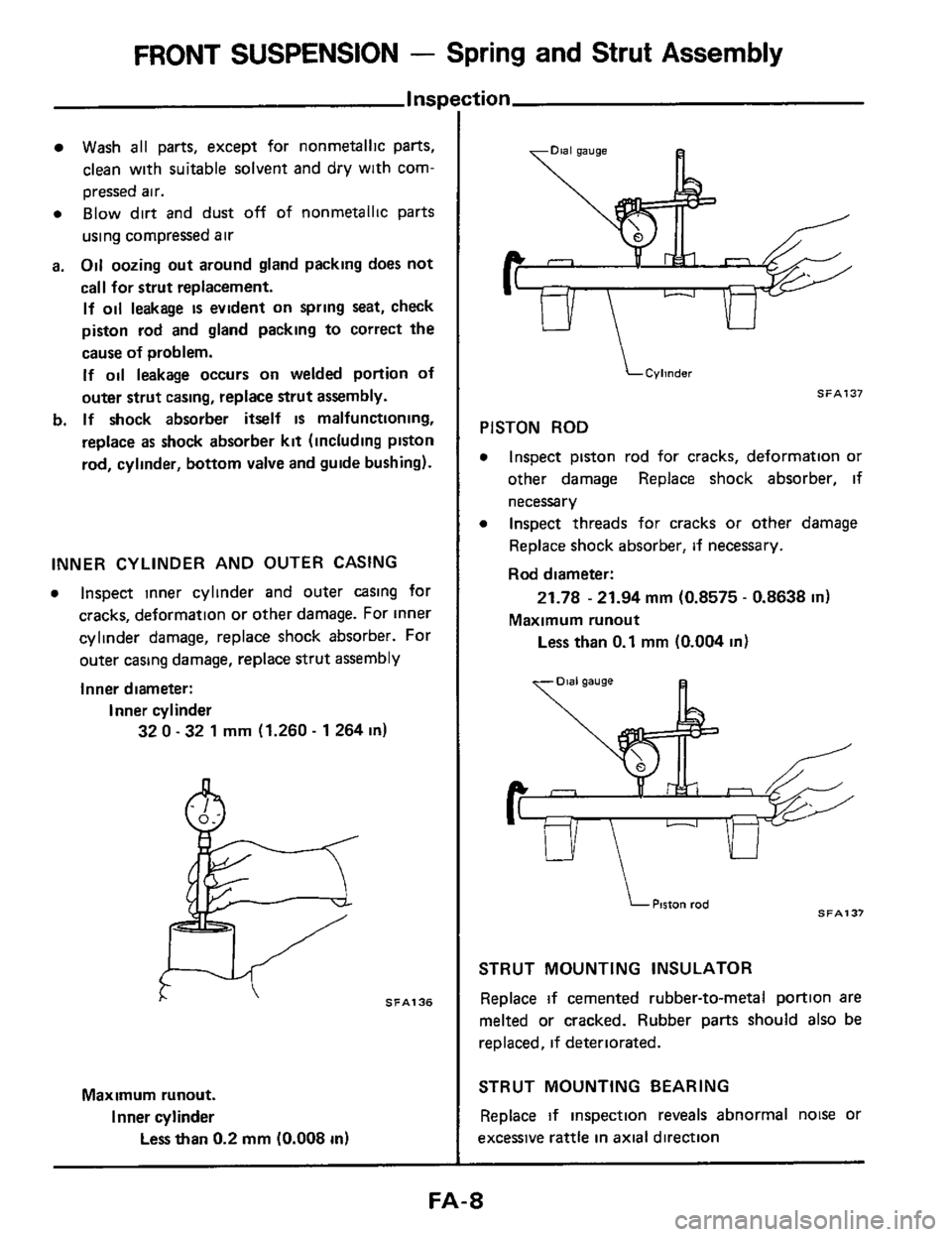 NISSAN 300ZX 1984 Z31 Front Suspension Workshop Manual, Page 8